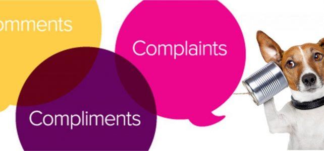 COMPLIMENTS AND COMPLAINTS